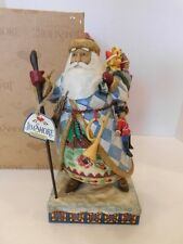Jim Shore Santa w/Cane & Bag of Toys Figurine Bringing Christmas Joy 4005447 BOX