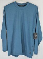 Beverly Hills Polo Club Long Sleeve Crewneck T-Shirt Mens Cotton Blend NEW 5508