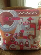 Sofa Chair Throw Pillow Cushion Cover Musician Jazz Blues Music Theme  NWOT