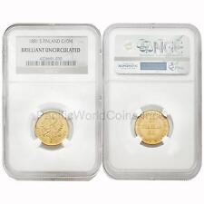 Finland 1881 S 10 Markkaa Gold Coin NGC Brilliant Uncirculated