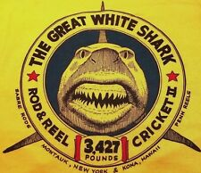 Vintage T-Shirt Frank Mundus Quint Jaws Movie Montauk Ny Great White Shark Boat