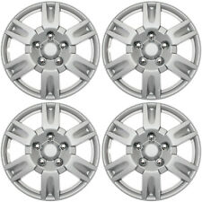 "4 Pc of 15"" Inch Silver Hub Caps Full Lug Skin Rim Cover for OEM Steel Wheel Cap"