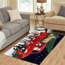 Christmas Express Delivery Red Truck Running Cane Corso Dogs Area Rug