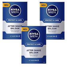 (59,30 €/L) 3x 100ml Nivea Men Protect & Care After Shave Balm Care Aloe Vera