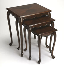 TABLES - NEWBURGH NESTING TABLES - SET OF THREE - CHERRY FINISH - FREE SHIPPING*