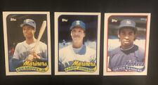 KEN GRIFFEY JR. Randy Johnson Deion Sanders (ROOKIES) 1989 TOPPS TRADED  Lot
