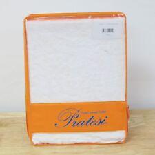 Pratesi Hotel Stone Washed Linen STANDARD/QUEEN Pillow Sham WHITE Bedding G4149