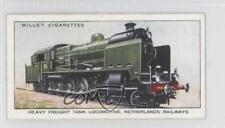 1936 Tobacco Base 22 Heavy Freight Tank Locomotive Netherlands Railways Card a8x
