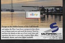 SALTSPRING AIR SEAPLANE AIRLINES D/H BEAVER  GULF ISLANDS AT SUNSET AD