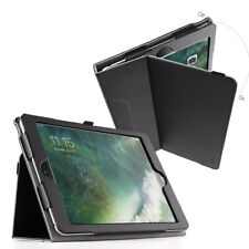 For Apple iPad 9.7 2018 / iPad 9.7 2017 Case Synthetic Leather Stand Cover Black