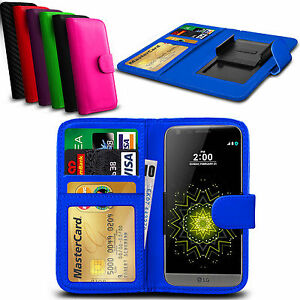 Clip On PU Leather Flip Wallet Book Case Cover For LG K4