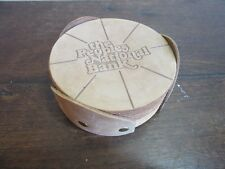 Leather advertising drink coasters. The Peoples National Banl