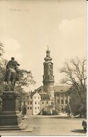 Ansichtskarte Schloss Weimar in Thüringen - schwarz/weiß