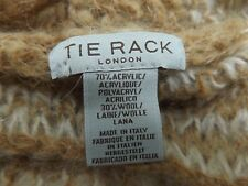 ITALIAN WOOL MIX SCARF TIE RACK LONDON beige and cream. Very fine knit