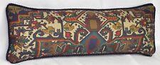 Ralph Lauren Southwest Aztec Fabric Custom Accent Pillow 24x8 trim Blue cording