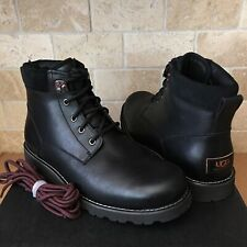 UGG SETON TL BLACK WATERPROOF LEATHER FUR WARM SNOW BOOTS SHOES SIZE US 10 MENS