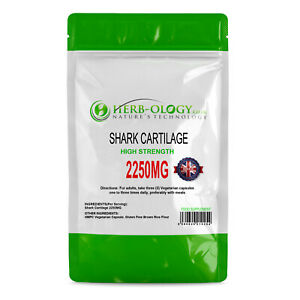 Shark Cartilage Capsules Supplements For Joints 750mg Per Capsule Herb-ology