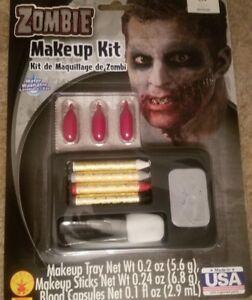 Halloween Zombie Makeup Kit With Makeup Sticks Blood Capsules Makeup Tray