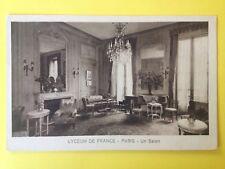 cpa RARE PARIS 17 rue de Bellechasse LYCEUM de FRANCE Un Salon Ecrivain?