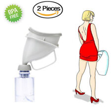 2 x Women Female Urinal Travel Camping Hiking Funnel Lady Her Stand Wee Loo Pee