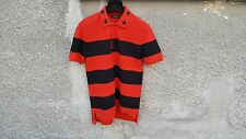 Givenchy Red Striped Star Embroidered Rottweiler Shark Polo Shirt T-shirt size M
