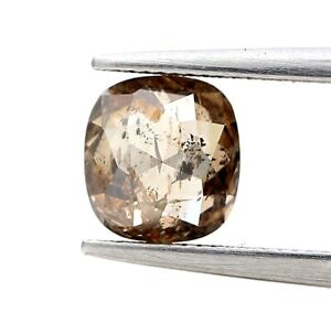 Natural Diamond Rustic diamond 1.08Ct SI1 Brown Sparkling Oval Rose Cut for Gift