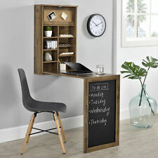 [en.casa] Wandtisch Holz Schreibtisch Tisch Regal Wand Klapptisch aus-klappbar