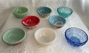 """The Pioneer Woman Glass 3.1"""" Condiment Dip Prep Dipping Bowl NEW"""