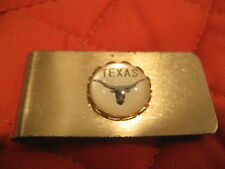 University of Texas Longhorns vintage reverse carved glass intaglio Money Clip