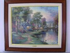 Thomas Kinkade Hometown Lake Oil Canvas -  S/N 1997 ed. HANDSIGNED by Kinkade