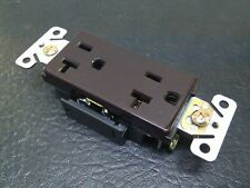 LEVITON 5361 2-POLE,3-WIRE,SELF GROUNDING RECEPTABLE,BROWN 20A-125V CASE OF 10