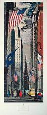 New York Wall Street-Federico lloveras - 95cm x40cms vintage poster print