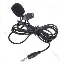 Hot 3.5mm Hands Free Clip On Mini Lapel Mic Microphone For PC Notebook Laptop