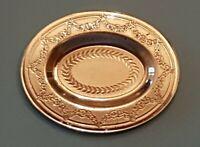 Dollhouse miniature vintage sterling silver Adam Period-II plate,  1:12