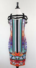Bisou Bisou Dress sz XL Scuba Fitted Womens floral garden party Tropical NEW