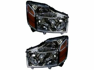 For 2004 Nissan Pathfinder Armada Headlight Assembly Set 27744SR