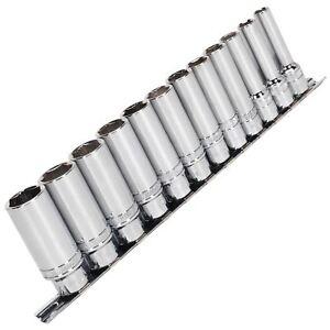 Sealey 12pc 1cm Conducir Profundo Aclopamiento En Enchufe Set 8-19mm Obras 85%