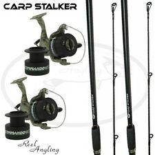 8ft 6ft Carp Stalker Rod ngt & Commando 60 40 Carp Runner Reel Lineaeffe Combos