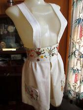 Xs~S 22W Country Vtg 70s Lederhosen Hippie Floral Jumper Strap Hippy Skirt