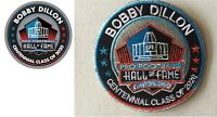 BOBBY DILLON 2020 CENTENNIAL NFL HALL OF FAME PATCH & PIN GREEN BAY PACKERS