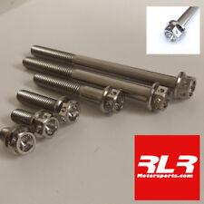 titanium bolts flange hexagon head motorsport Drilled M6x70mm 1mm pitch