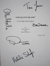 Gilligan's Island Signed TV Script X5 Bob Denver Alan Hale Louise Wells reprint
