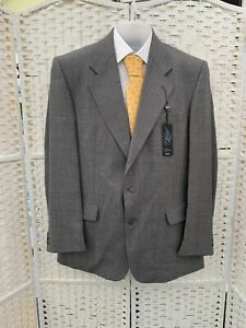 The Label heavy wool Grey check suit 42R W36 L30 BNWT