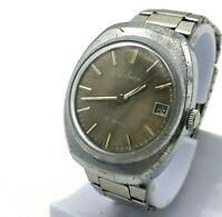 Retro SEKONDA Mechanical Watch Fourth Dial Date USSR Stainless Steel Bracelet