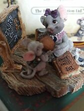 Boyds Critter & Co Mouse Miss Stilton with Rhodes Teacher's Pet #36651 New