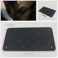 Car Black Aluminum Alloy Non-slip Rubber Heel Plate Pedal Carpet Floor Mat Pedal