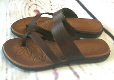 BOC Born Concept Brown Strappy Slingback Thong Flat Sandals Women's Size 10M