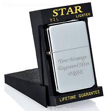 Personalised Engraved  Star Lighter Cased Birthday/Groomsman/Usher Gift Box