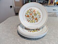 "SET of (6) CORELLE by CORNING ""INDIAN SUMMER"" PATTERN 8 1/2"" LUNCH PLATES"