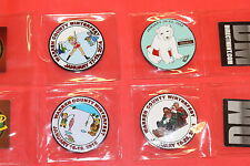 Winterfest Event Geocoin  2012-2017 Six Coin Set, Unactivated